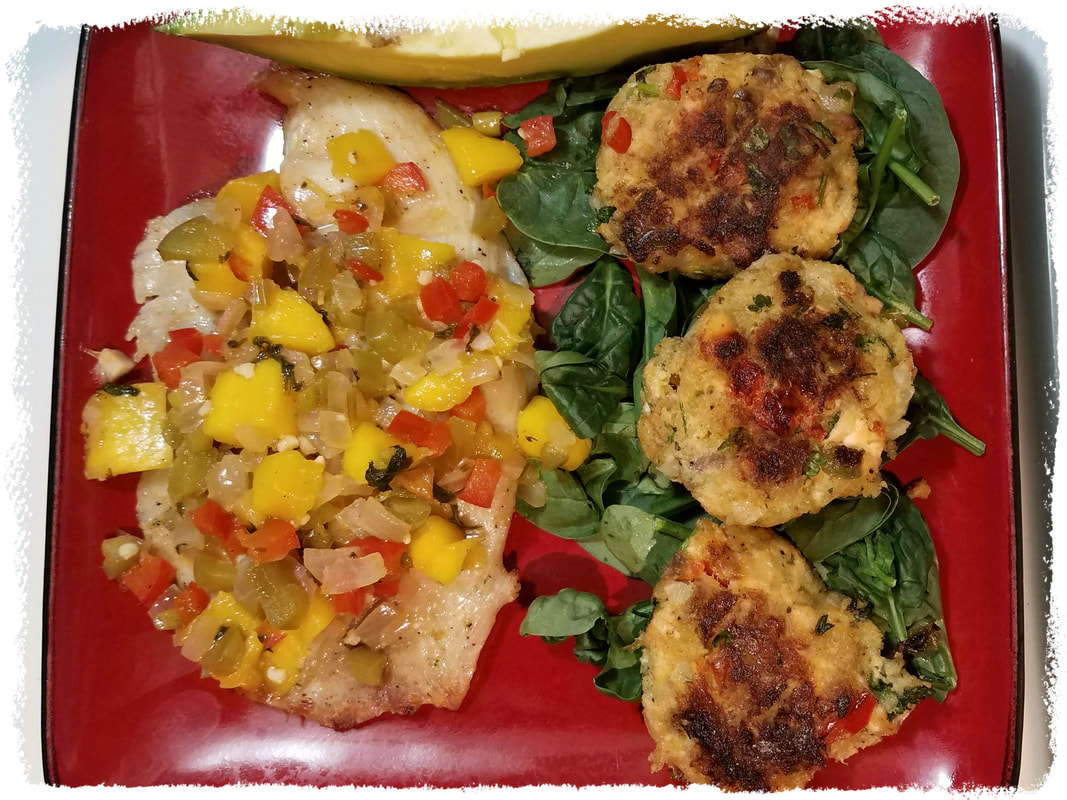 Grilled Tilapia and Salmon Patties